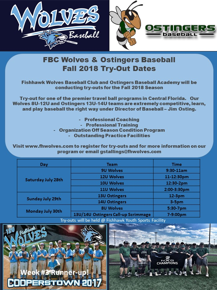 Wolves Tryout Fall 2018
