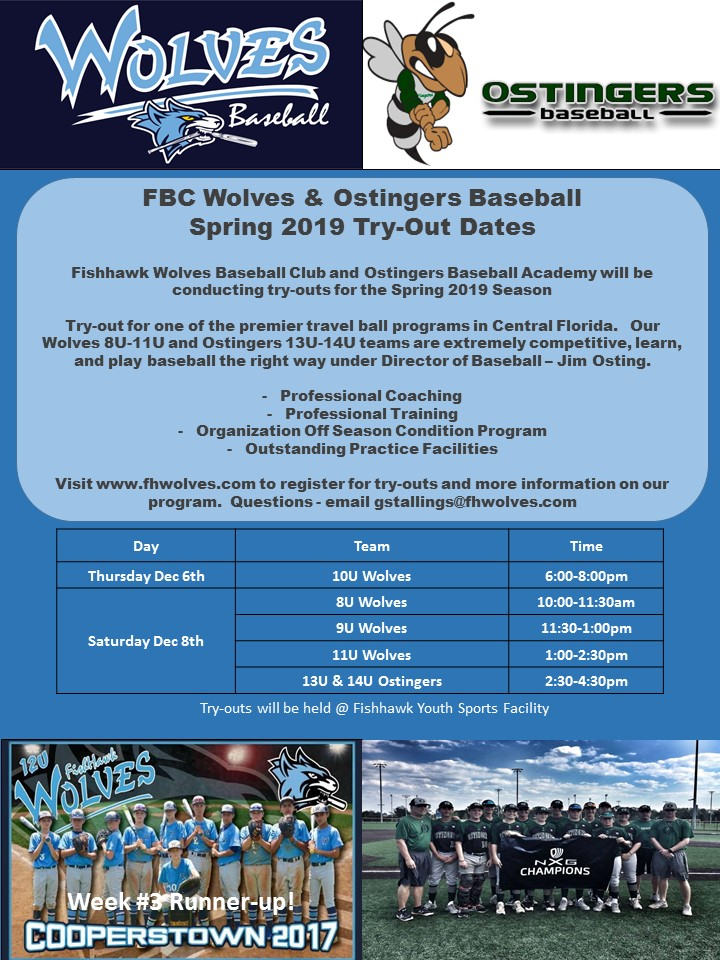 Wolves Tryout Spring 2019