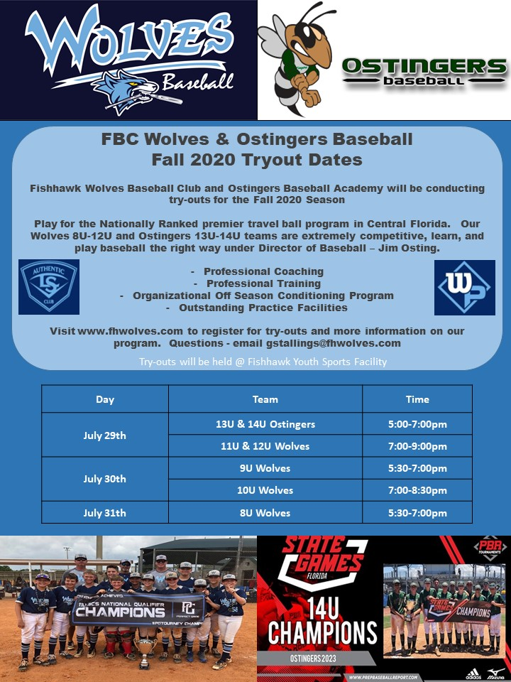 Wolves Tryout Fall 2020